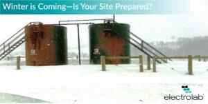 Winter in the oilfield